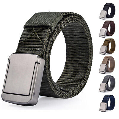 Canvas Belt  Mens Alloy Buckle Casual Military Outdoor Tactical Strap Waistband