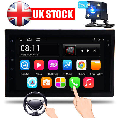 """7"""" Android 6.0 Double 2Din Car Stereo Radio MP5 PLAYER GPS Wifi 3G Navigator UK"""