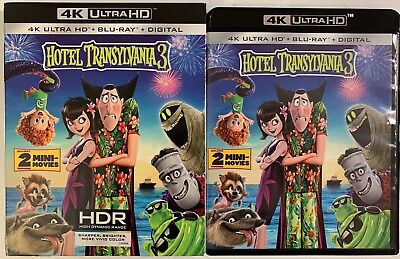Hotel Transylvania 3 4K Ultra Hd Blu Ray 2 Disc Set + Slipcover Sleeve Free Ship