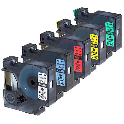 """Compatible for DYMO D1 12mm Color Label Tapes LabelManager Printer 1/2"""" x 23ft"""