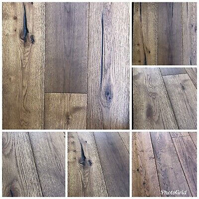 ANTIQUE ENGINEERED WOOD FLOORING 189/20mm 6mm Top. DISTRESSED FINISH