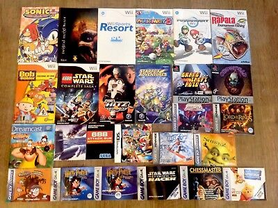 25x RETRO VINTAGE GAMING INSTRUCTIONS MANUALS - NINTENDO GAMECUBE Wii DREAMCAST