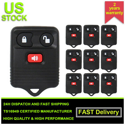 Lot of 10 Replacement Keyless Entry Remote Key Car Fob for Ford F150 F-250 F-550