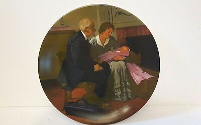 cradle of love plate Norman Rockwell 1980 first edition numbered great condition