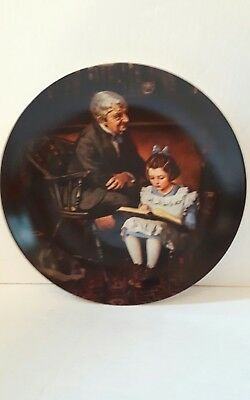 the young scholar plate Norman Rockwell LTD EDITION excellent condition