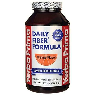 Yerba Prima Daily Fiber Formula, Orange Flavored Powder, 12 Ounce