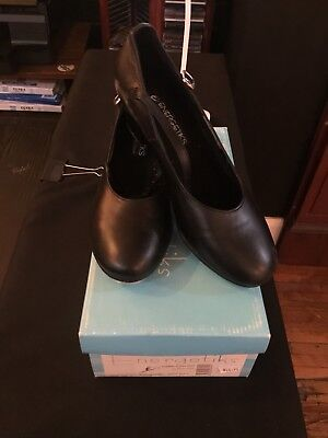 Tap Shoe Cuban Heel Black Good condition ENERGETIKS TSA02 size 6.5