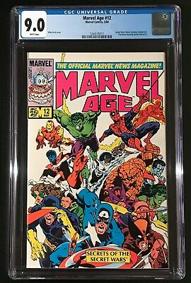 Marvel Age #12 (1984) CGC 9.0 - pre-first appearance of black alien costume