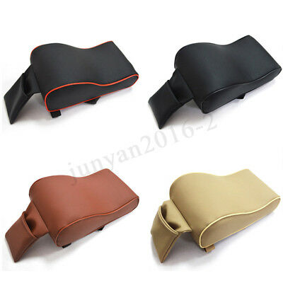 Universal PU Leather Car Central Armrest Cover Pad Cushion Seat Arm Rest Support