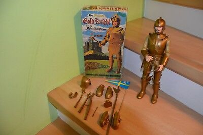 "Marx Toys Gold Knight / Goldener Ritter ""Sir Percival"" Nr. 2081+Box, 60/70er J."