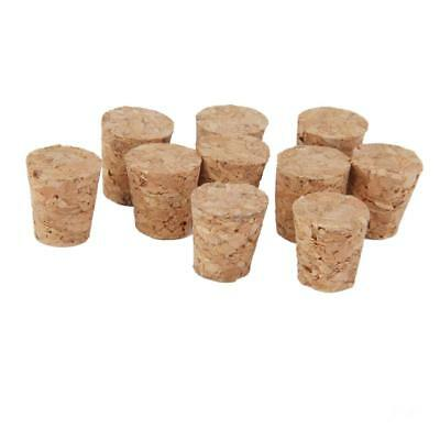 "10x 0.6"" Tapered Corks Stoppers DIY Craft Home Art Wine Corks Bottle Stopper"