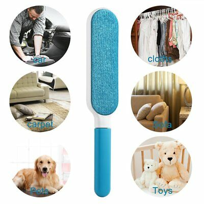 Fur Pet Hair & Lint Remover Cleaner Magic Cloth Fluff Fabric Brush Reusable BR
