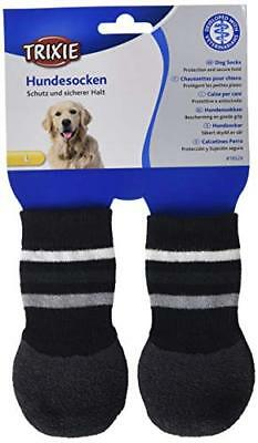 Trixie Calcetines Perro, Antideslizante, L-XL, 2 ud, Ng (Large/X-Large|Negro)
