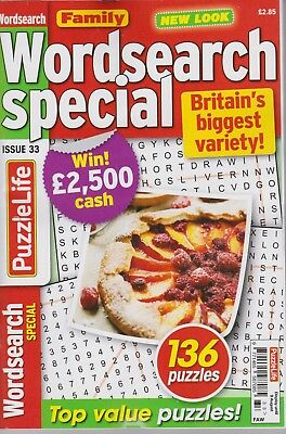 Family Wordsearch Special  #33 NEW PUZZLE Magazine (Free 1st class post U.K.)