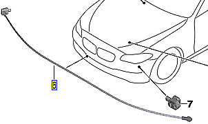BMW 5 Series F10 2011 Pedestrian Protection Sensor 9284846