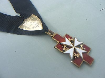 Knight Templar Masonic Solid Silver Jewel Hallmarked