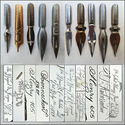 Second Collection of 10 x 3 vintage nibs e.g. Soennecken,Brause,Blanzy