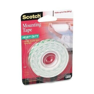 "3M Commercial Office Supply Div. Mounting Tape, Holds 2 lb., 1/2""x75"", White ..."