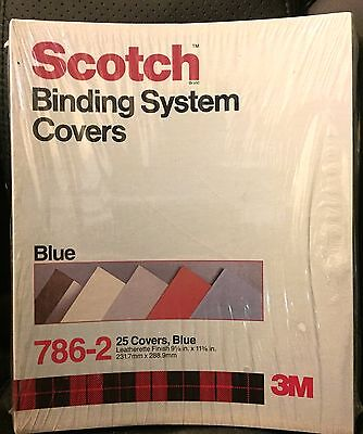 Scotch Binding System Covers 786-2 Blue, 25 Covers 9 1/8 in x 11 3/8 in