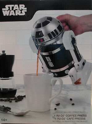 Disney Star Wars R2D2 French Press 32 oz Coffee Maker Collectible