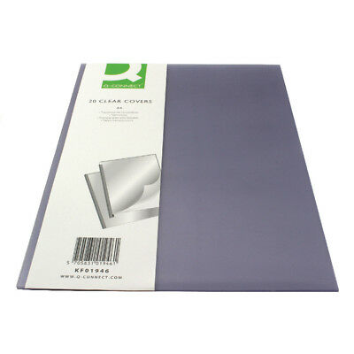 Q Connect Clear A4 Binding Covers Presentation Display Document Files CLEARANCE