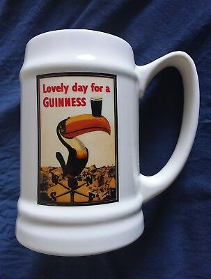 Guinness Ceramic Tankard Pint Glass Mug Lovely Day For A Guinnes