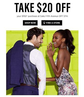 Saks Fifth Ave OFF 5TH Coupon $20 off $150 (Exp Oct 30, 2018) *CLICK HERE*
