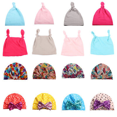 Baby Kids Boys Girls Hat Cap Stretchy Spring Lace Up Beanie Tie Up India's Hat