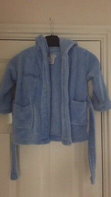 Personalised Samuel Dressing Gown 6-12months