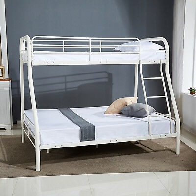 694c1dfeca86e Metal Twin over Full Bunk Beds Kids Teens Adult w Ladder Dorm Bedroom  Furniture
