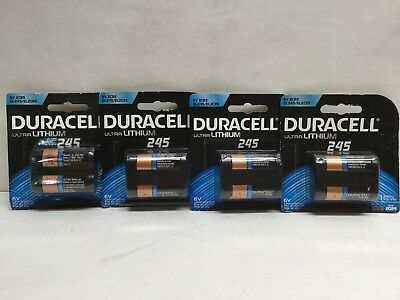 Duracell Ultra Lithium 245 Battery 6V DL245/EL2CR5 (Lot of 4) EXP 2024+