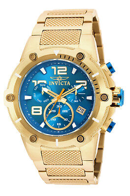 Invicta Speedway 50mm Chronograph Blue Dial Gold Ion-plated Men's Watch 19532