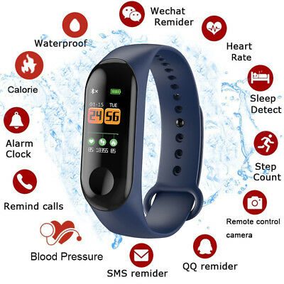 Smart Band Watch Bracelet Wristband Fitness Tracker Blood Pressure HeartRate