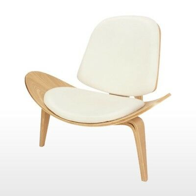 Hans Wegner Contemporary Style Shell Chair Natural Wood White