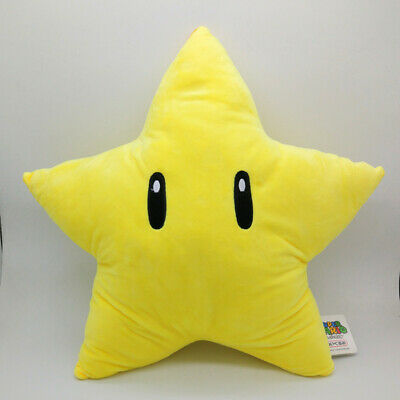 """New 12"""" Super Mario Star Soft Plush Cartoon Toy Doll Gift Home Decor Collection"""