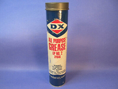 Vintage DX Grease -Sunoco Sun  Full Original Tube Can