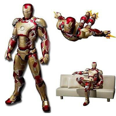 Iron Man MK42 43 Action Figur Tony Stark Sofa Marvel Avengers Film Spiel Figuren