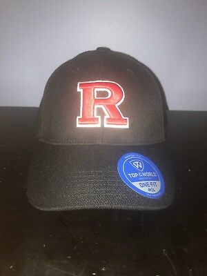 best sneakers f353e 193b2 Rutgers Scarlet Knights Hat Top of the World Dynasty Memory Fit Hat Black  NEW