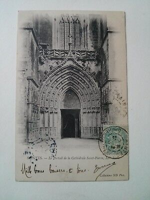 CPA 17 Carte postale ancienne SAINTES CATHEDRALE SAINT PIERRE
