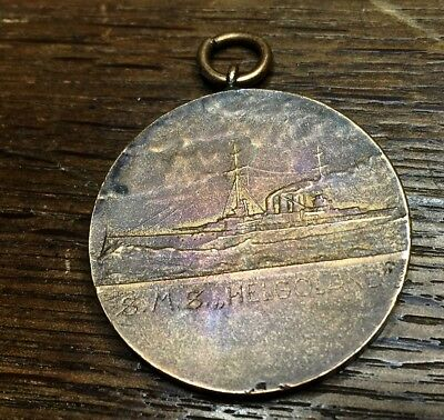 Tragbare Medaille Helgoland, Bronze , SMS Helgoland,
