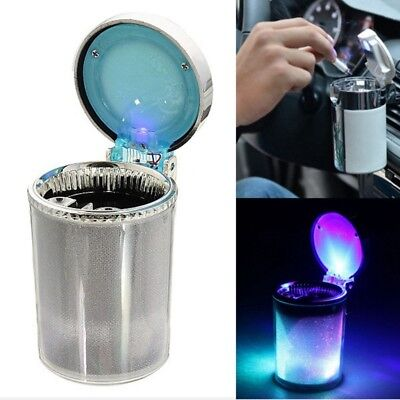 Car Ashtray multicolour Auto Portable Car Travel LED Light Lamp Cigarette K4P9