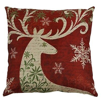 Get Christmas Reindeer Elk Pillow Case 18 X 18inch Cushion Cover Home Deco O1Z9