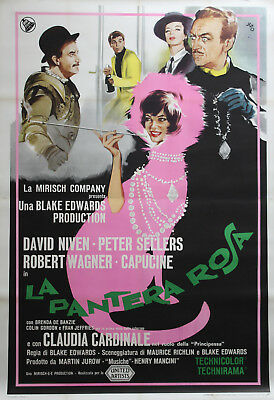 """LA PANTHERE ROSE (THE PINK PANTHER)"" Affiche originale italienne entoilée"