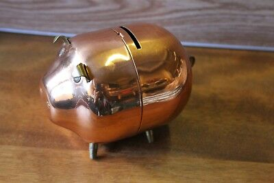 Vintage Piggy Bank Copper Child's Bank-Made in USA