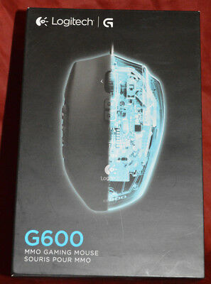 Logitech G600 MMO Gaming Mouse, RGB Backlit, 20 Programmable Buttons Black