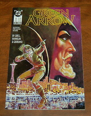 Green Arrow #1 Nm-/nm  ~Mike Grell~   First Print 1988 Dc Comics