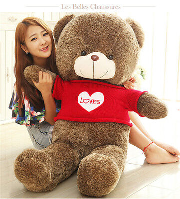 47in. Teddy Bear PlushSoft Toys Doll  Pillow Gift Sweater Loves Giant Big Brown