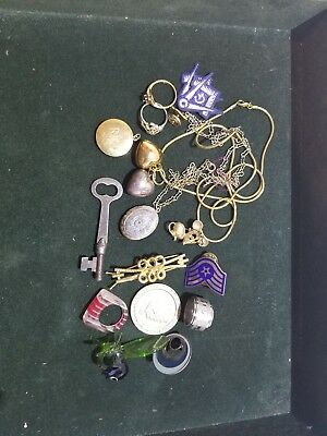 Junk Drawer Lot Coins Pins Vintage Estate Collectables And Much More