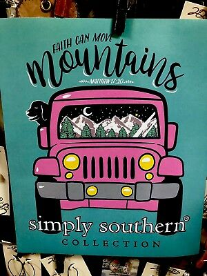 """Adult Simply Southern """"Faith Can Move Mountains"""" Jeep Long Sleeve T-Shirt"""