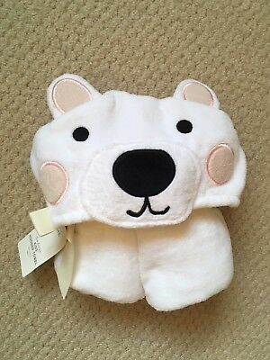 BNWT Marks And Spencer Baby Towel With Bear Hood
